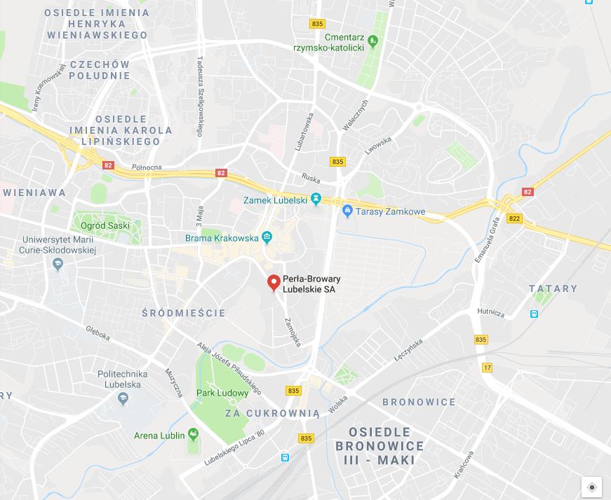 mapa Lublin