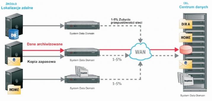 oprogramowanie data domain schemat