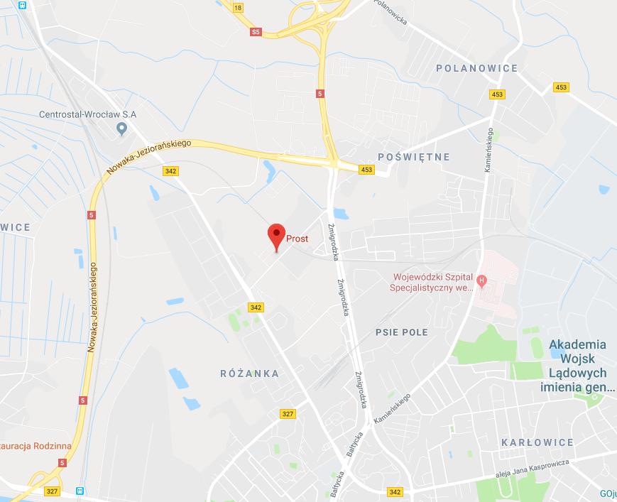 mapa brotar Prost