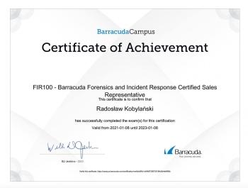 Radosław_Kobylański_SEN100_Sentinel_Certified_Sales_Representative