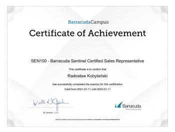 Radosław_Kobylański_CGF_CloudGen_Firewall_Certified_Sales_Representative