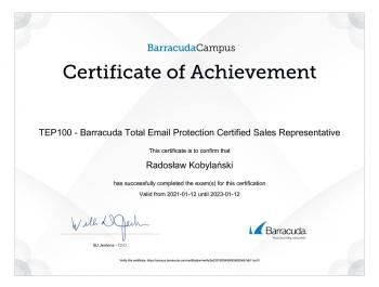 Radosław_Kobylański_BT155_Vulnerability_Remediation_Service_Certified_Sales_Representative