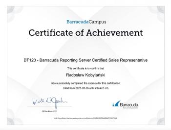 Radosław_Kobylański_BT140_Load_Balancer_ADC_Certified_Sales_Representative