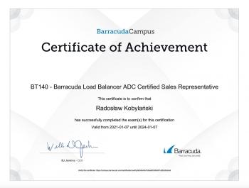 Radosław_Kobylański_BT135_Active_DDoS_Prevention_Certfified_Sales_Representative