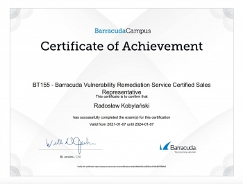 Radosław_Kobylański_CCB100_Cloud_to_Cloud_Backup_Certified_Sales_Representative