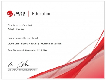 Marek Stasica Trend Micro Worry Free Detection and Response (XDR) Technical Certificate