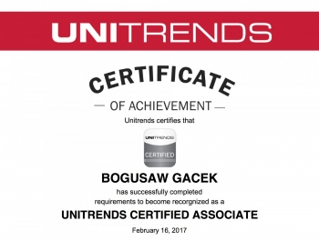 Unitrends Certified System Administrator - certyfikat dla Net Complex