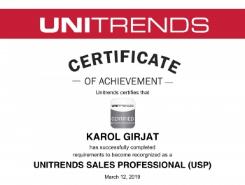 Unitrends Sales Professional - Karol Girjat