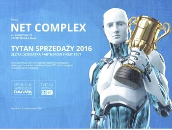 Tytani Sprzedaży ESET 2016 dla Net Complex
