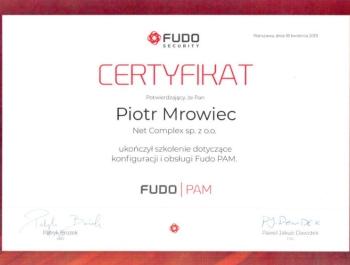 Cartyfikat Fudo Pam - obsługa i konfiguracja monitoringu do obsługi sieci