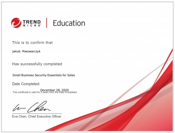 Jakub Piwowarczyk Trend Micro User Protection Essentials for Sales