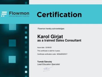 Karol Girjat - Flowmon Trained Sales Consultant