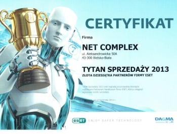 Tytani Sprzedaży ESET 2013 dla Net Complex