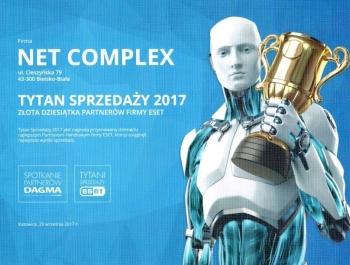 Tytani Sprzedaży ESET 2017 dla  Net Complex