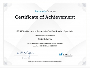 Patryk Kwaśny ESS200 Essentials Certified Product Specialist