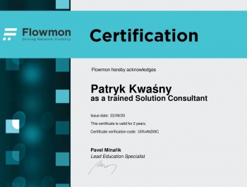 Patryk Kwaśny -  Flowmon Solution Consultant
