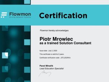Piotr Mrowiec - Flowmon Solution Consultant