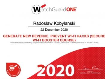 Radosław Kobylański - WatchGuard Secure Wi-Fi Sales Certification