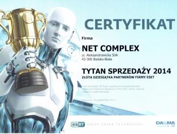 Tytani Sprzedaży ESET 2014 dla Net Complex