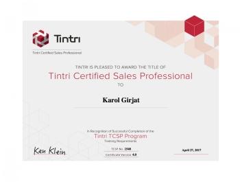 Tintri Certified Sales Professional - certyfikat dla Net Complex