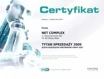 Tytani Sprzedaży ESET 2009 dla Net Complex