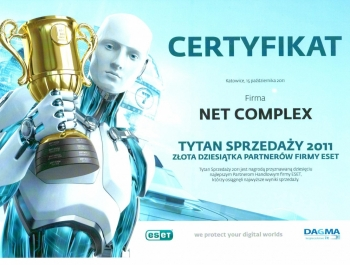 Tytani Sprzedaży ESET 2011 dla Net Complex