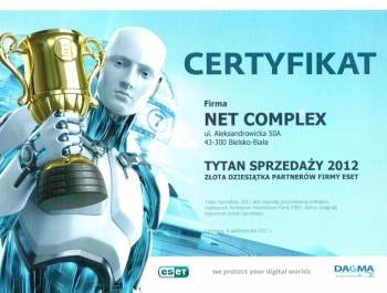 Tytani Sprzedaży ESET 2012 dla Net Complex