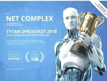 Tytani Sprzedaży ESET 2018 dla Net Complex