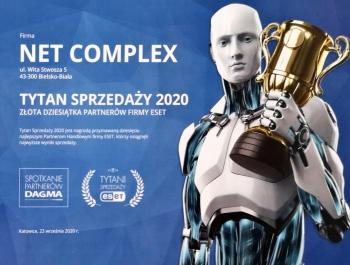 Tytani Sprzedaży ESET 2020 dla Net Complex