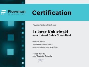 Łukasz Kałuziński - Flowmon Trained Sales Consultant
