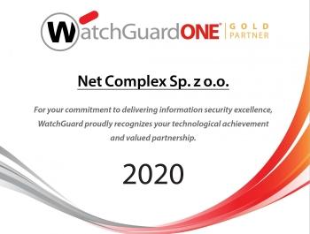 WatchGuard Partnership Gold Partner 2020 | Net Complex