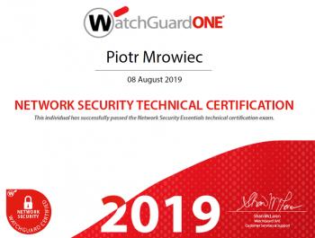 Piotr Mrowiec - WatchGuard Network Security Technical Certification