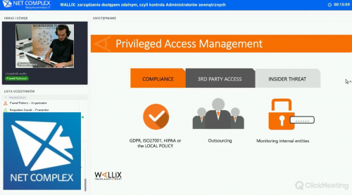 Webinar: WALLIX. Zarządzanie dostępem zdalnym, czyli kontrola administratorów zewnętrznych