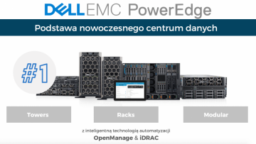 Serwery Dell Power Edge z procesorami Intel Xeon