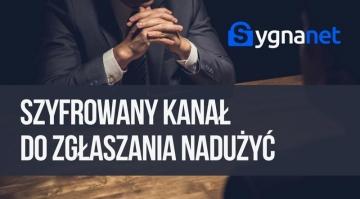Webinarium: Prezentacja Sygnanet - zgłaszanie nadużyć i anonimowej komunikacji sygnalisty